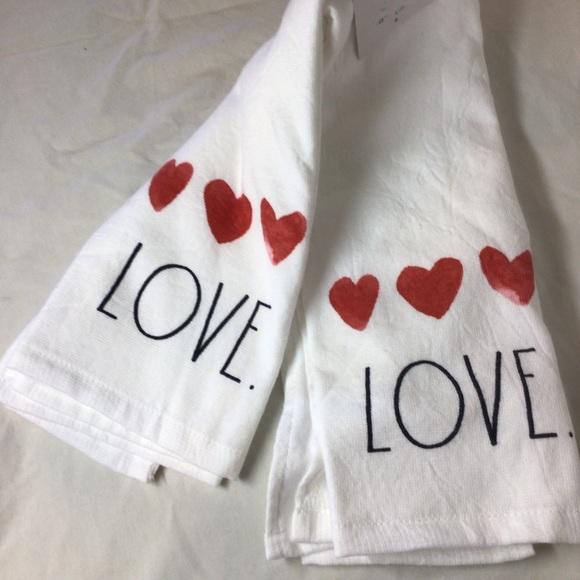 "Rea Dunn ""Love"" kitchen towels"